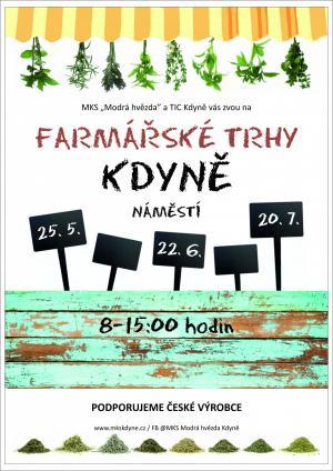 Plakát farmářských trhů