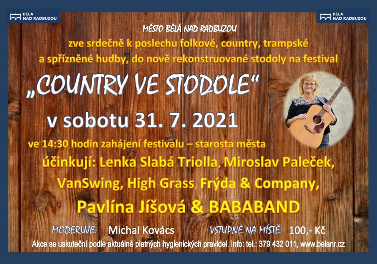 HUDEBNÍ FESTIVAL COUNTRY VE STODOLE