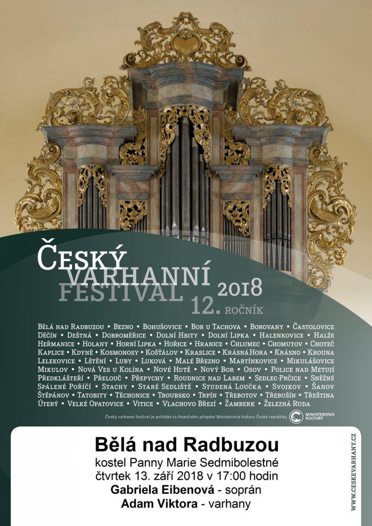 ČESKÝ VARHANNÍ FESTIVAL - 12. ročník - Bělá nad Radbuzou 1
