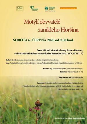 EXKURZE - MOTÝLÍ OBYVATELÉ ZANIKLÉHO HORŠÍNA, 6. 6. 2020 1